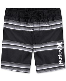 Hurley Toddler Boys Striped Board Shorts Swim Trunks