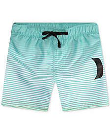 Hurley Big Boys Striped Swim Trunks