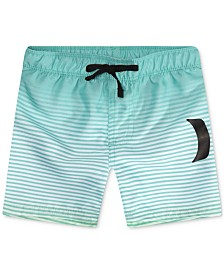 Hurley Little Boys Striped Swim Trunks