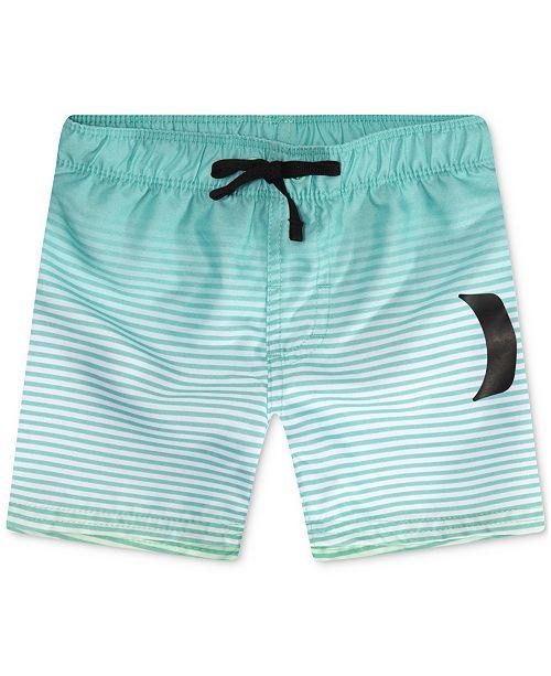 Hurley Little Boys Striped Swim Trunks