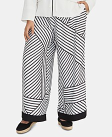 Plus Size Adalia Printed Wide-Leg Pants