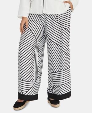 Rachel Rachel Roy Plus Adalia Printed Wide-Leg Pants