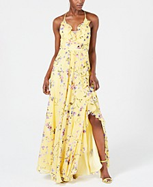Ruffled Floral Gown