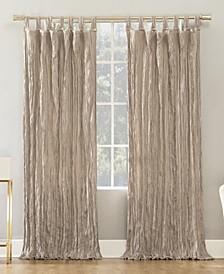 "Odelia 50"" x 95"" Distressed Velvet Tab Top Curtain Panel"