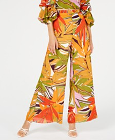 Royalty Clothing Brand Printed Wide-Leg Pants