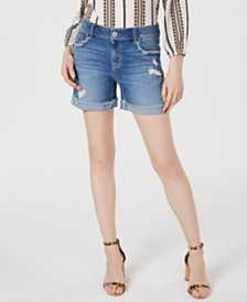 I.N.C. Destructed Jean Shorts, Created for Macy's