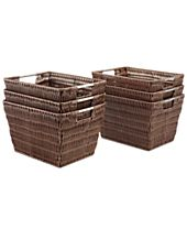 Whitmor Storage Baskets, Set of 6 Small Rattique
