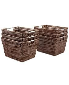 Whitmor Storage Baskets, Set of 6 Small Rattique