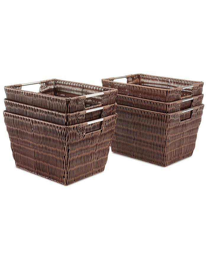 Whitmor - Storage Baskets, Set of 6 Small Rattique
