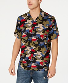 American Rag Men's Camo Rain Shirt, Created for Macy's