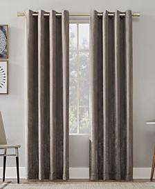 """Suite 918 Chanson Brushed Velvet Grommet Top Curtain Panel, 52"""" W x 95"""" L"""