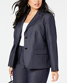 Nine West  Plus Size Two-Button Blazer