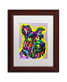 """Dean Russo 'My Schnauzer' Matted Framed Art - 11"""" x 14"""""""