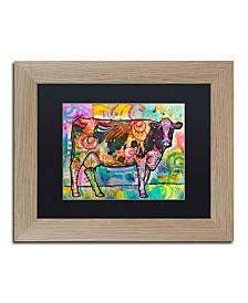"Dean Russo 'Cow' Matted Framed Art - 14"" x 11"""