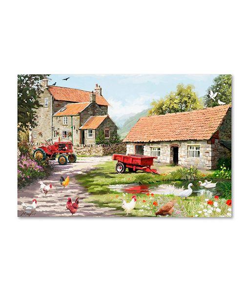 "Trademark Global The Macneil Studio 'Farmyard' Canvas Art - 12"" x 19"""