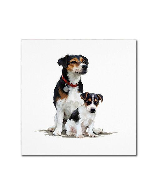 "Trademark Global The Macneil Studio 'Jack Russell' Canvas Art - 14"" x 14"""