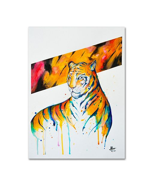 "Trademark Global Marc Allante 'Burning Bright' Canvas Art - 14"" x 19"""