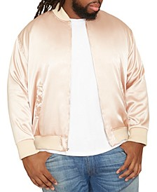 Men's Big & Tall MVP Collections Satin Bomber Jacket