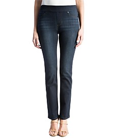 Jillian Pull-On Straight Leg Jean In Silky Soft Stretch Denim
