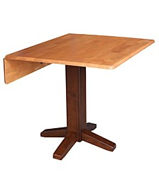 """36"""" Square Dual Drop Leaf Dining Table"""