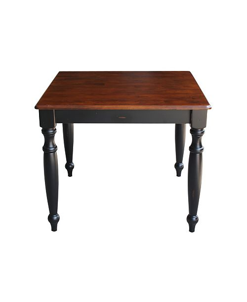 WHITEWOOD INDUSTRIES/INTNL CONCEPTS International Concepts Solid Wood Top Dining Height Table - Turned Legs