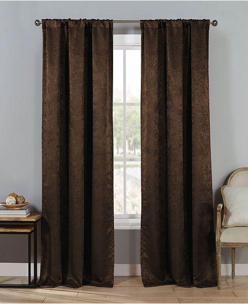"""Duck River Textile Steena 30"""" x 84"""" Velvet Blackout Curtain Set"""