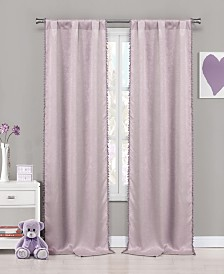 "Tucker 37"" x 84"" Faux Suede Blackout Curtain Set"