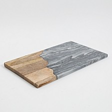 Laurie Gates Gray Marble Rectangular Serving Board