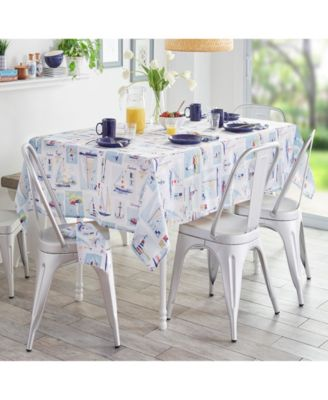 """Sail Away Stain Resistant Indoor Outdoor 60""""X 102"""" Tablecloth"""