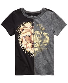 Epic Threads Little Boys Colorblocked Spliced Lion T-Shirt, Created for Macy's