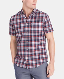 Tommy Hilfiger Men's Custom Fit Alan Plaid Shirt