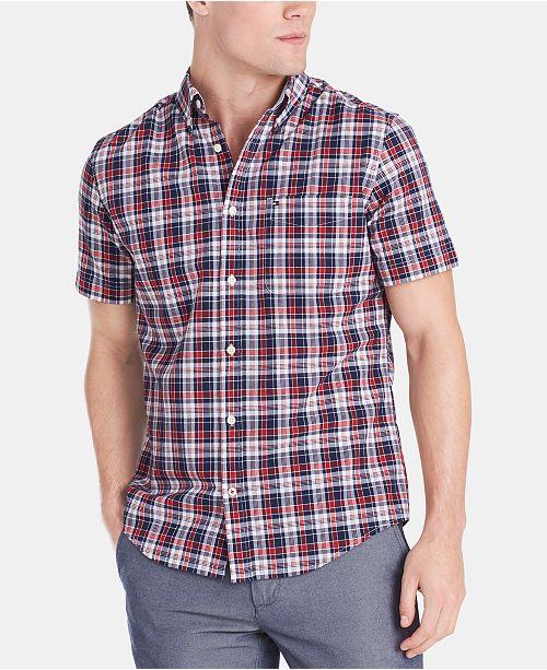 Tommy Hilfiger Men's Custom Fit Alan Plaid Shirt
