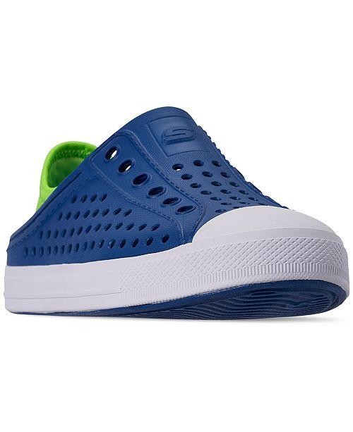 Skechers Little Boys' Guzman Steps - Aqua Surge Slip-On Casual Sneakers from Finish Line