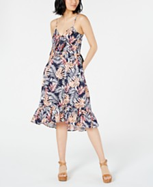 Maison Jules Printed Ruffle-Hem Dress, Created for Macy's