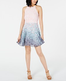 Maison Jules Dot-Print Fit & Flare Dress, Created for Macy's