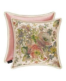 """J Queen Floral Park  20"""" Square Decorative Throw Pillow"""