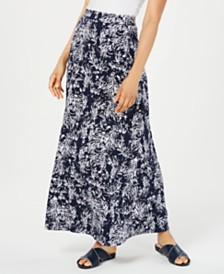 Charter Club Printed Maxi Skirt, Created for Macy's