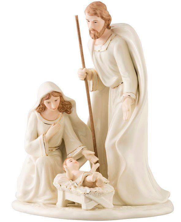 Belleek Pottery Nativity Family Large