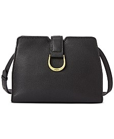 Lauren Ralph Lauren Kenton City Pebbled Leather Crossbody