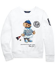 Polo Ralph Lauren Big Girls Marseilles Bear Terry Pullover