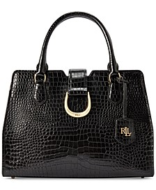 Kenton City Croc-Embossed Leather Satchel