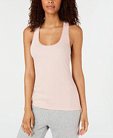 Jenni Lace-Trim Pajama Tank Top, Created for Macy's