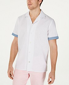 Men's Cooper Custom-Fit Linen Camp Shirt