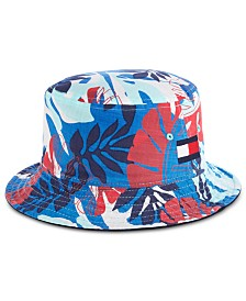 Tommy Hilfiger Men's Reid Reversible Tropical Bucket Hat
