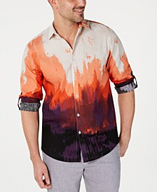 INC Men's Tie Dyed Button Down Shirt, Created for Macy's