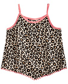 Big Girls Leopard-Print Challis Tank Top, Created for Macy's