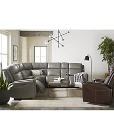 Saran Leather Sectional Sofa Collection