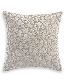 "Hotel Collection Classic Flourish Floral Damask 18"" x 18"" Decorative Pillow, Created for Macy's"