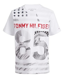 Tommy Hilfiger Big Boys Statue Of Liberty Star & Stripe Logo T-Shirt