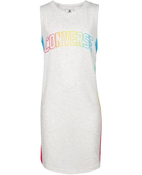 Converse Big Girls Gradient Logo Tank Dress
